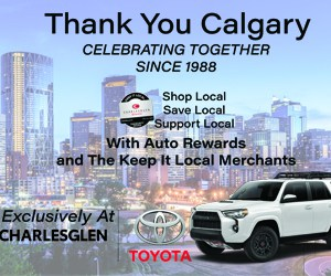 Web banner adverts of CharlesGlen Toyota in The Canadian Business Quarterly